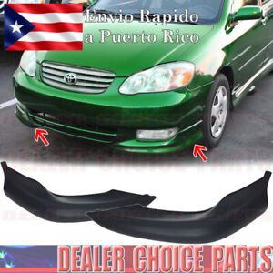 For 2003 2004 Toyota Corolla 2pc Factory S Style Front Lower Bumper Lip Body Kit
