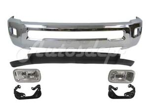 Front Bumper Chr Air Dam Fog Light Bracket For Dodge Ram 2500 3500 2wd 2010 2012