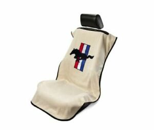 Konsole Armour Sa100must Tan Car Seat Cover W Striped Mustang Logo