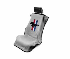 Konsole Armour Sa100musg Grey Car Seat Cover W Striped Mustang Logo