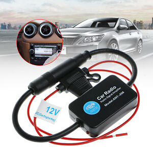 12v 25db Car Fm Radio Antenna Amplifier Booster With Indicator Model Ant 208