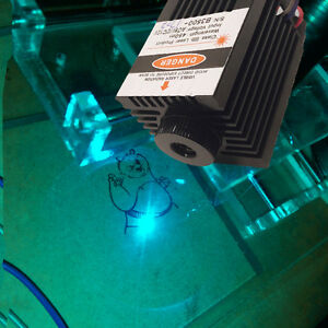 High Quality 450nm 3000mw Blue Laser Module Ttl Cnc Cutter Engraving