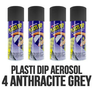 Performix Plasti Dip 4 Pack Anthracite Grey 11oz Spray Cans Free Shipping