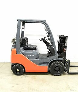 Nice 2010 Toyota 3000 Lb Lpg Pneumatic Forklift Side Shift 8fgu15 Air Tires