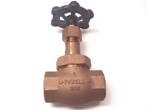 New Powell 300 Globe Valve 1 200 Lb Full Flow Port Threaded End
