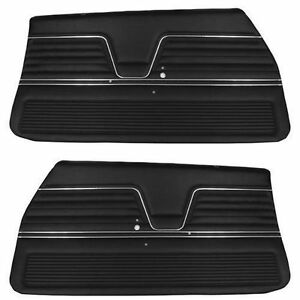 1969 Chevelle Pui Platinum Door Panels Front Set In Black In Stock