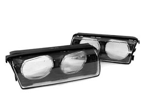 Hella Style Replacement Glass Lens Left Right For Bmw E36 Depo Euro Headlight