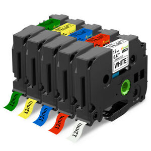 Tz 231 Tze 231 5 Pk Compatible Label Maker Tape 12mm For Brother P touch Pt d210