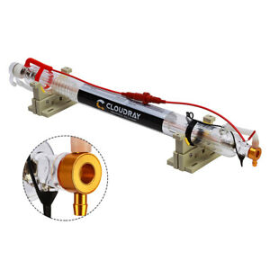 50w Co2 Laser Tube Metal Head 1000mm Glass Pipe For Engraving Cutting Machine