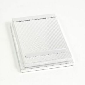 New Silver Plated 4 x6 Memo Pad Holder With Lined Cover