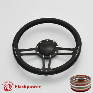 14 Billet Steering Wheels Black Full Wrap Dodge Challenger Charger Daytona