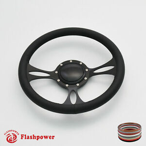14 Billet Steering Wheels Black Full Wrap Buick Cadillac Pontiac Gto Firebird