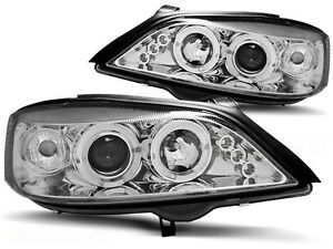 Angel Eyes Headlights In Clear Chrome Finish For Opel Astra G 1998 2004