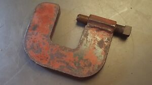 Huge Industrial Metal Working Work Holding C Clamp Over 5 Pounds Marked 2