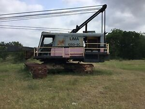 Lima 1250 Sc Drag Line 100 Ft Boom 3 5yd Bucket Runs And Operates