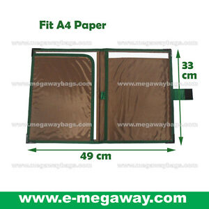 A4 Paper Folder Writing Note Pad Document Brown Portfolios Promotion Megawaybags