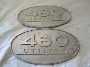 Original Ih Farmall Tractor 460 Utility Hood Emblems International Harvester