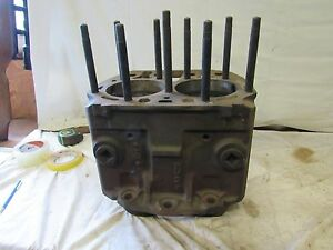John Deere B Cylinder Block B2500r 090 Over Ab3539r With Pistons And New Rings