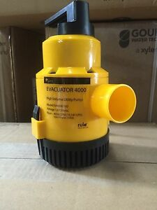 Xylem Goulds Rule Evacuator High Flow Portable Utility Water Pump Model Ev4000