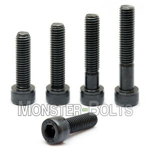 M6 1 0 Socket Head Caps Screws 12 9 Alloy Steel W Black Oxide Din 912 6mm