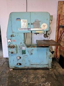 Tannewitz 3600ms Vertical Band Saw Table Size 34 x32 480vac