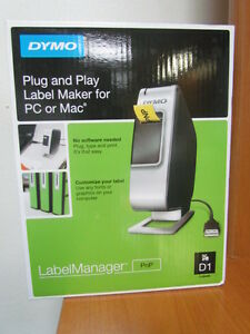 Brand New Sealed Dymo Labelmanager Pnp Label Thermal Printer D1 For Pc