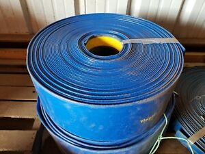 Blue Pvc Lay Flat Discharge Hose 6 Id X 50