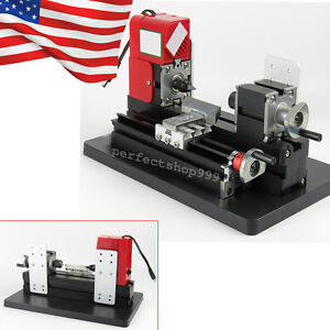 usa Local mini Wood Working Lathe Motorized Machine Diy Tool Metal 12vdc Crafts
