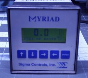 Sigma Controls Myriad Water Level Meter Control Computer System Pump Adjust
