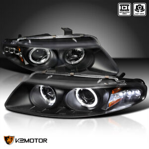 For 1997 2000 Dodge Avenger Led Strip Halo Projector Headlights Black Lamps L r