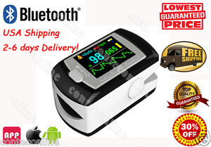 Rechargeable Fingertip Pulse Oximeter Software cable Full Colour Oled D