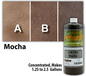 Professional Easy To Apply Water Based Concrete Stain Mocha