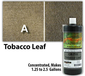 Professional Easy To Apply Water Based Concrete Stain Tobacco Leaf