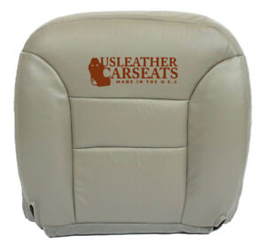 1995 1999 Chevy Suburban Tahoe Driver Bottom Synthetic Leather Seat Cover Gray