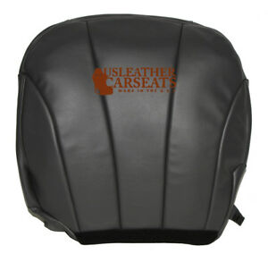 1999 2002 Chevy Work Truck Driver Bottom Synthetic Leather Seat Cover Dark Gray
