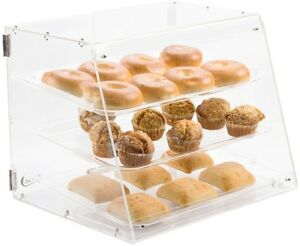 3 Tier Tray Bakery Display Case W Rear Doors Cakes Pastry Cupcakes Donut Muffin