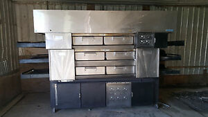 Huge 3 Deck Tripple Stack Electric Conveyor Pizza Pride Oven By Randell W Hood