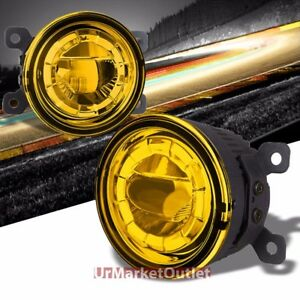 Yellow Amber Led Projector Replacement Bumper Round Fog Light Lamp Bulb Mount
