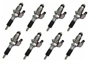 Exergy Performance 450 Over Stock Reman Injector Set Duramax 01 04 Lb7