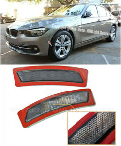 For 16 18 Bmw F30 F31 3 series Smoke Front Bumper Reflector Side Marker Lights