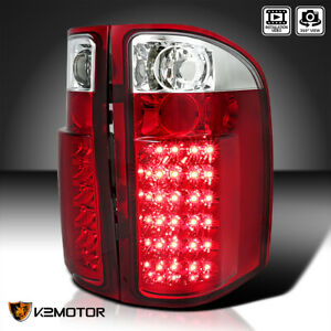 2007 2013 Chevy Silverado 1500 2500hd 3500hd Red Lens Led Tail Lights Left right
