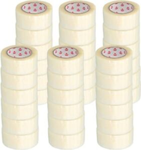 Clear Packing Tape 3 Mil Hotmelt 72 Rolls Of Tape 2 X55 Yards