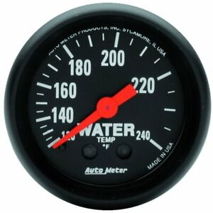 Auto Meter Z Mechanical Water Temperature Gauge 2 1 16 Dia Black Face 2607
