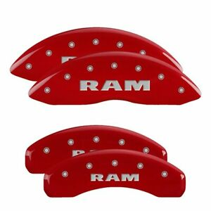 Mgp Set Of 4 Caliper Covers Front Rear New Ram For 1500 2011 2017 55001sramrd
