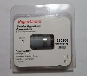 Hypertherm Genuine Powermax 1650 Ohmic Retaining Cap 220206 100a Qty 1