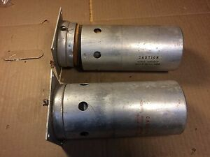 Set Of 2 Huge Oven Controlled Crystal Oscillators Thermos Bottles 7 5 Tall Ham
