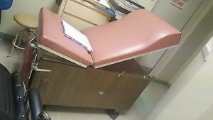 Medical Examination Table Bed Ob gyn Adjustable With Stirrups And Drawers