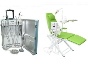 Portable Dental Unit With Air Compressor Scaler Curing Light Dental Chair