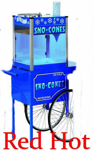 New Paragon Blizzard Snow Sno Cone Machine Ice Shaver With Cart 6133210