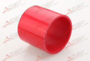 3 Ply 1 25 Inch Straight Hose 70mm Turbo Silicone Coupler Pipe Red